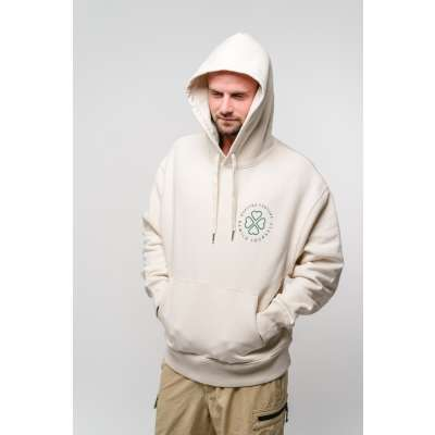"""Quattro Fortuna Hoodie """"Paddles"""" Natural Raw Gr. S"""